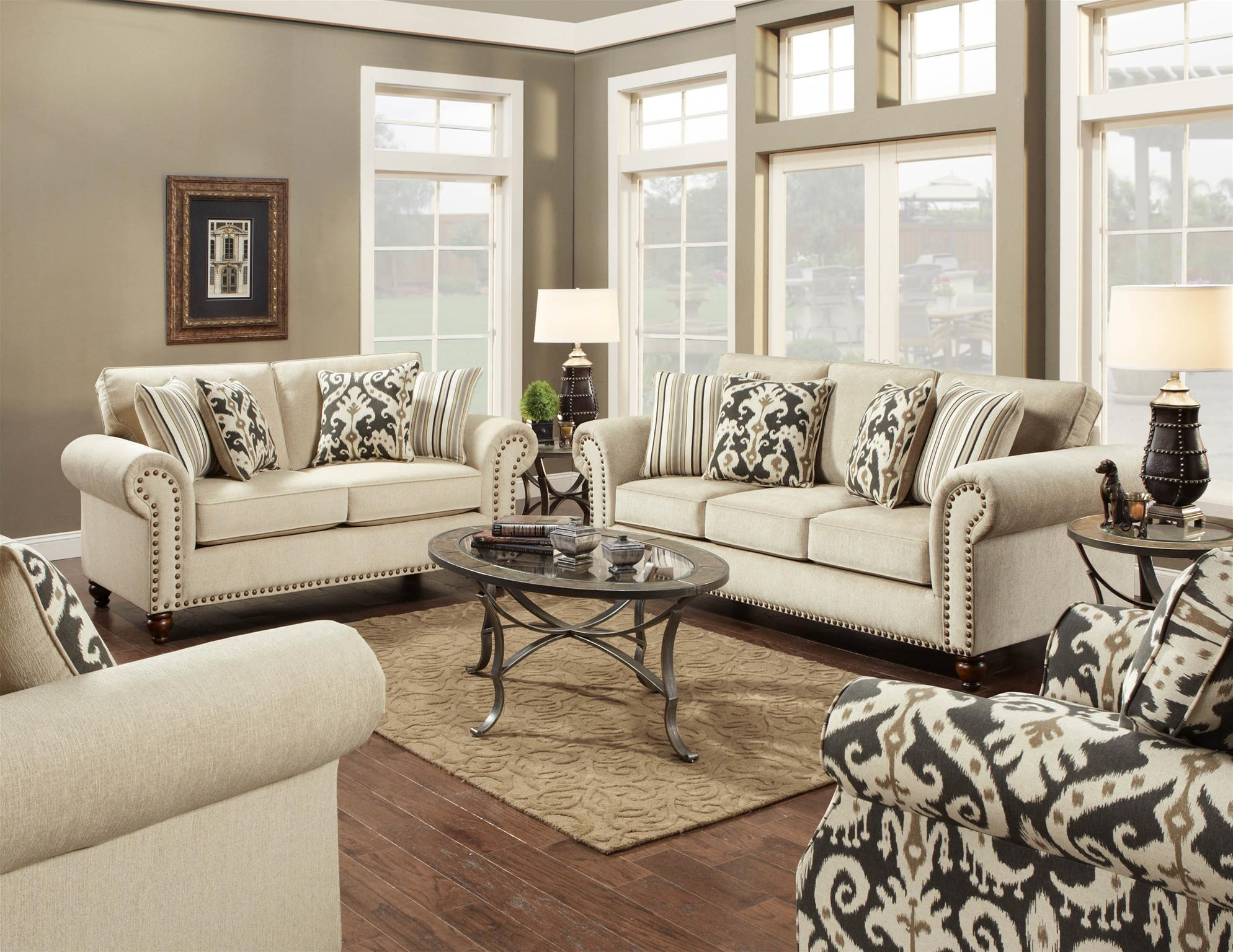 3110 3114 Fairly Sand Sofa By Fusion Lewis Furniture Store
