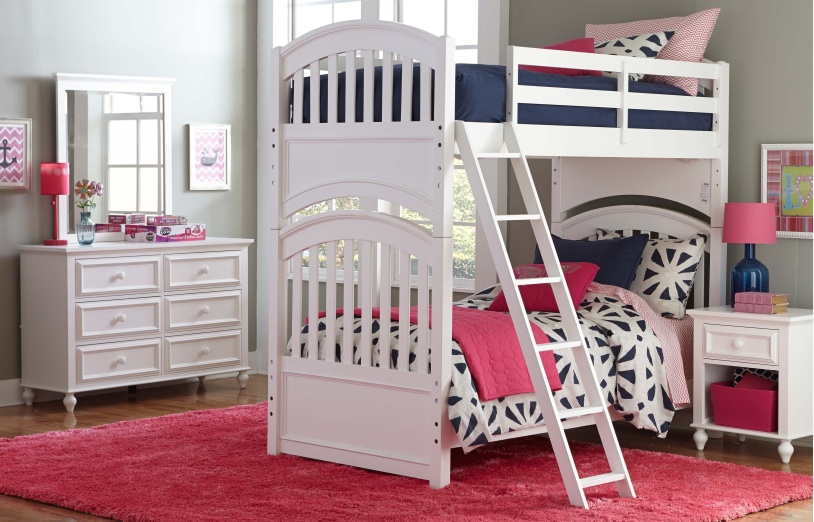 Academy White Bunk Bed By Lc Kids Lewis Furniture Store