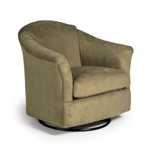 Darby Swivel Barrel Chair By Best Lewis Furniture Store