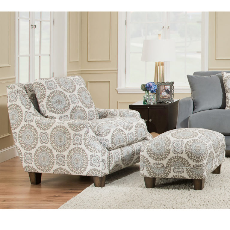 Milan Accent Chair Amp Matching Ottoman By Franklin Lewis