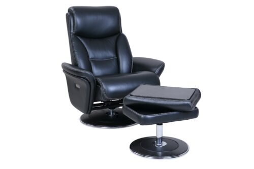 Charmant Walker Power Reclining Pedestal Chair And Ottoman By Barcalounger