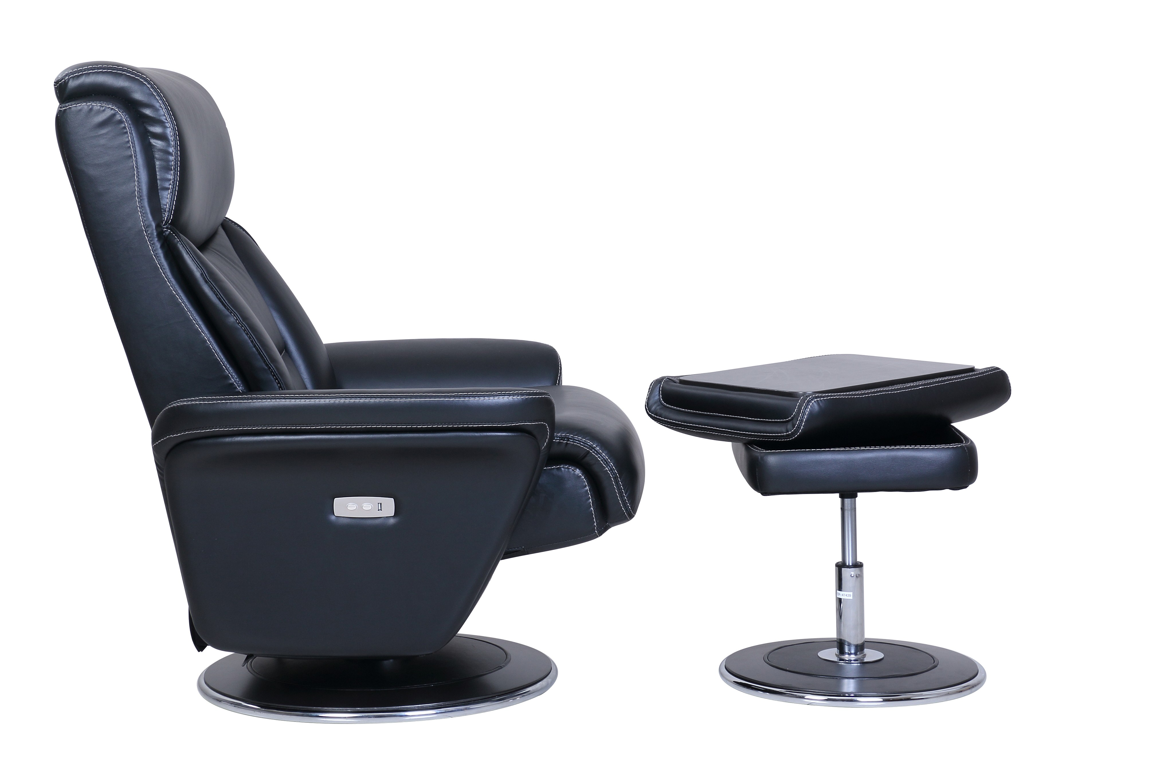 Walker Power Reclining Pedestal Chair And Ottoman By